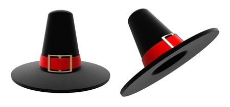 pilgrim: Stately pilgrim hat isolated on white
