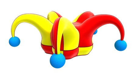 jester hat: jester hat isolated on white Stock Photo