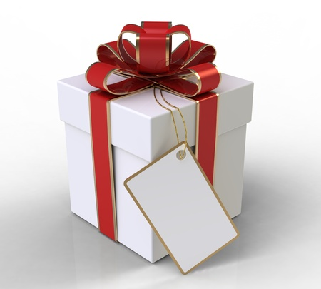 Gift box on white background  Stock Photo - 10846386