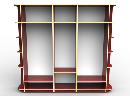 3d render of  wardrobe on a white background photo