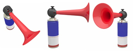 fanfare: The air horn on a white background