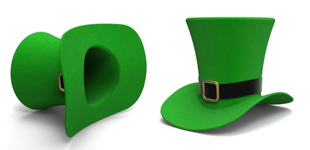 Leprechaun hat on a white background Stock Photo