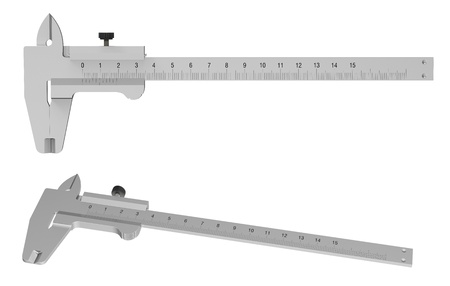 3d render of  caliper isolated on white background photo