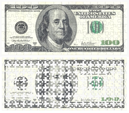 Puzzles of the banknotes photo