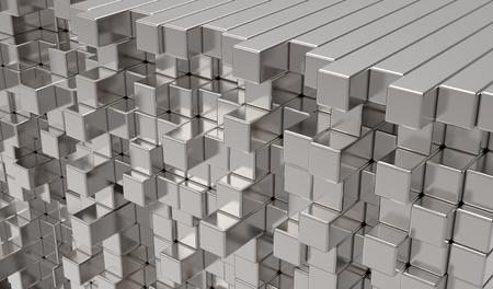 3d abstract  metal bars Stock Photo - 12270796