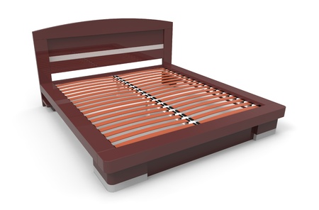 3d render of  modern  bed on a white background photo