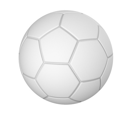 3d render of  football on a white background Stock Photo