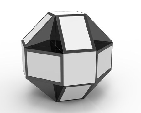 3d render of puzzle shape on the surface Stock Photo - 16041475