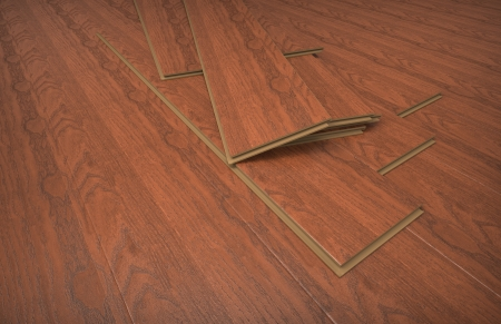 High resolution 3d render of laminate flooring photo