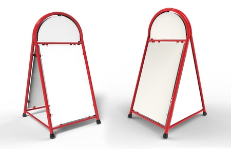portative: 3d render of white advertising stand
