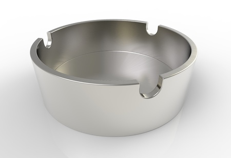 3d render of  Round metal ashtray