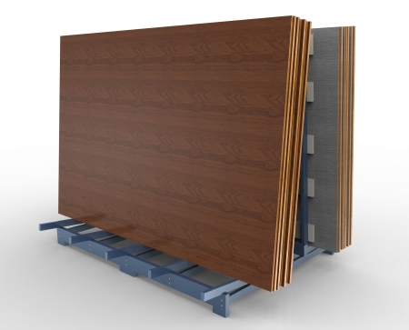 Joiner rack shelf with MDF boards