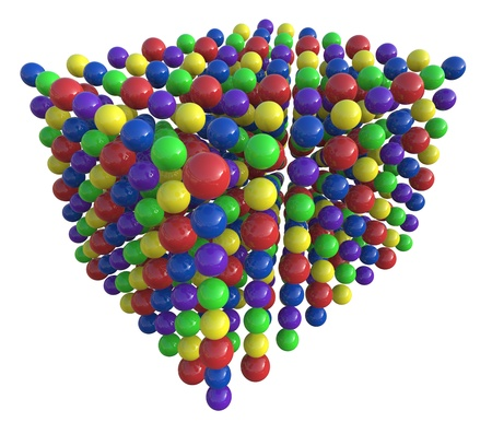 3d render of abstract cube of colorful spheres Stock Photo - 17897519