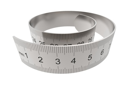 millimetre: Ruler twisted into a spiral