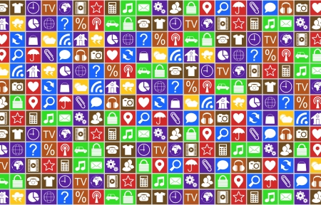 Icons abstract background High resolution 3d render  Stock Photo - 20219875