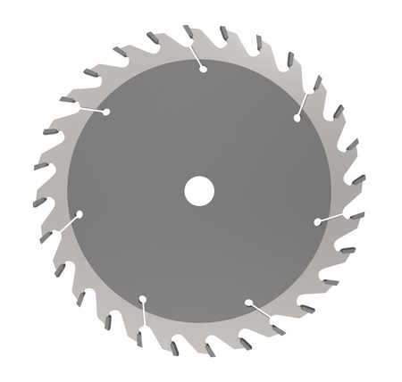Circular saw for cutting wood photo