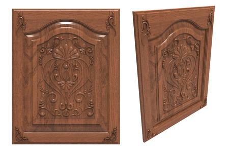 wood carving door: Wooden door with carvings