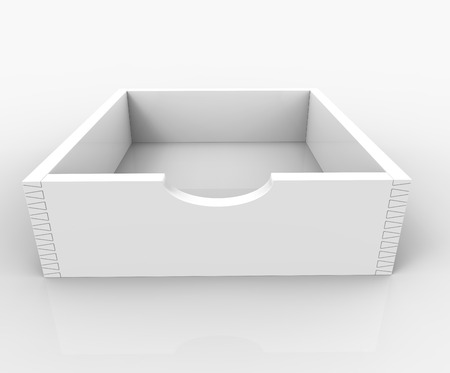 inbox: 3d render of Empty Inbox