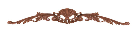 wood carving: 3d render of a wood carving on a white background Stock Photo