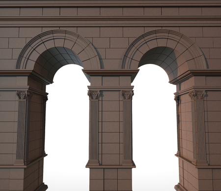 stone arch: 3d render of classical stone arch with columns
