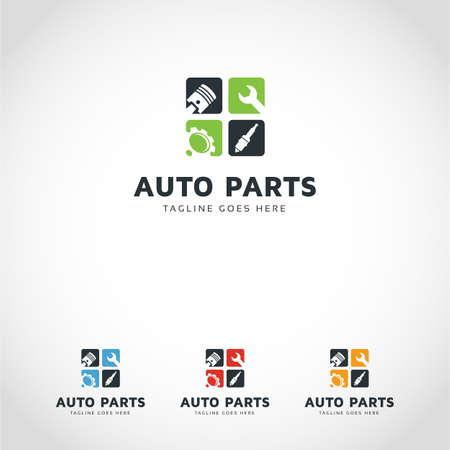 auto parts logo Stock fotó - 95355621