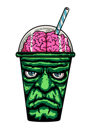 Frankenstein Monster Cup Illustration