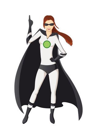 girl pose: super girl Illustration