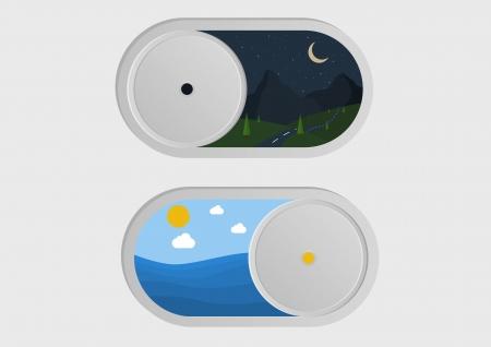 kippschalter: Die Benutzerschnittstelle Kippschalter an schlechten Tag und Nacht