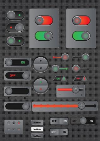 kippschalter: Aus-Taste schalten Sie Web-Dekoration