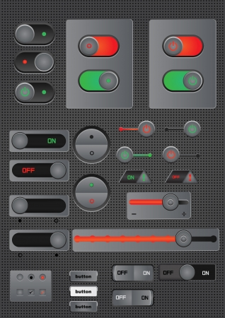 switch on off button web decoration Illustration