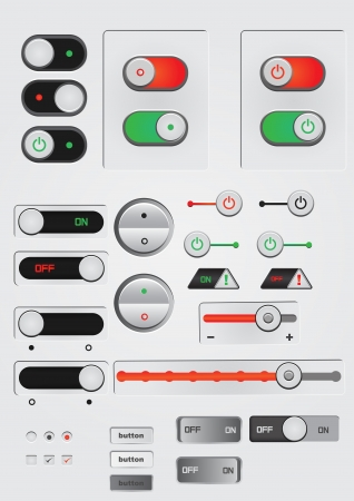 toggle switch on off button web decoration Vector
