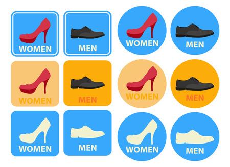 simbolo uomo donna: Icone di toilette