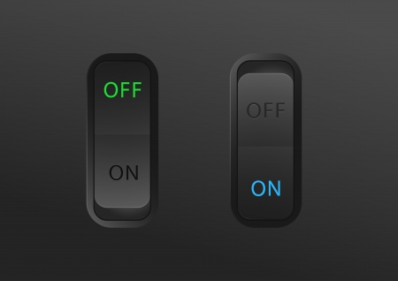 toggle switch on switch off icons