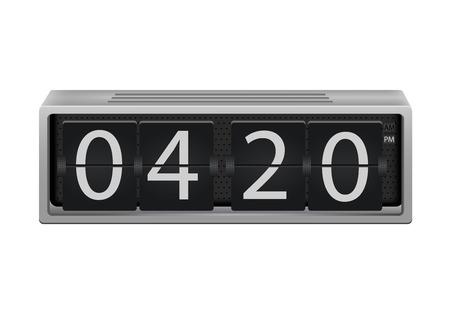 digital clock: flip clock