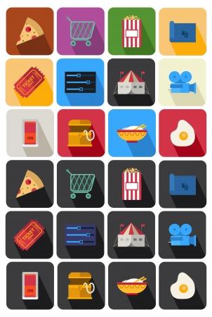 treasure chest: flat icon set 23 Illustration