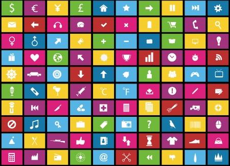 100 icons metro style icon sets
