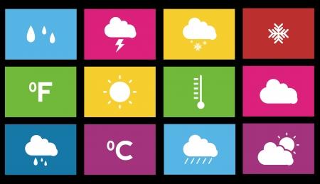 weather forecast metro style icon