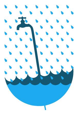 saving water campaign Vector