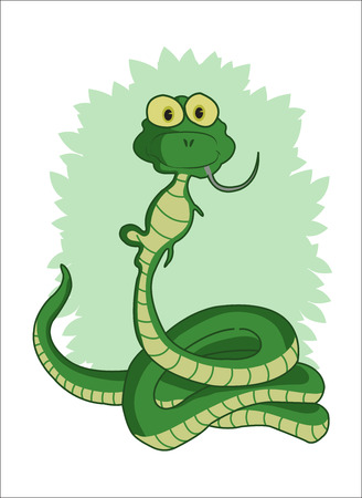 nake eating mouse Illustration