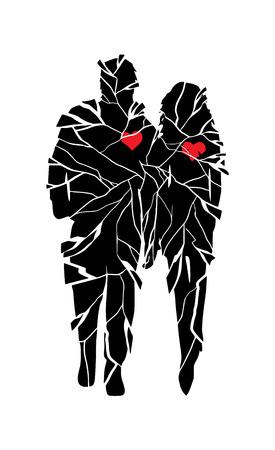 Coeur brisé Banque d'images - 24018149