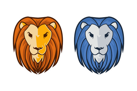 lion head mascot  Illustration