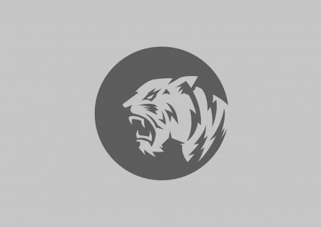 silueta tigre: tigre cabeza silueta Vectores