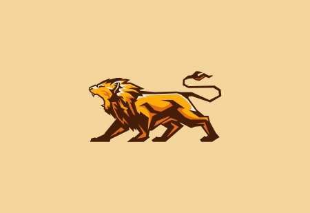 lions: mascota del le�n Vectores