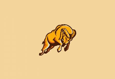 rams sport mascot Stock Vector - 24107546