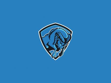 carnero: rams mascota del deporte Vectores