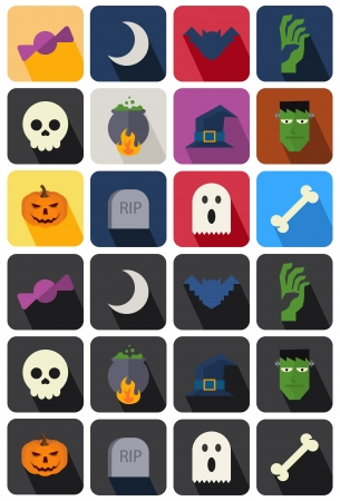 flat icon set 19 Ilustrace