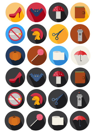 flat icons set 21 Vector