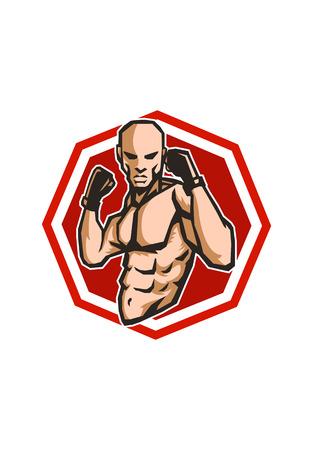MMA fighter icon