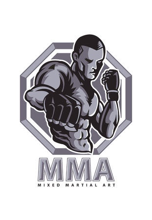 fight arena: MMA mascot