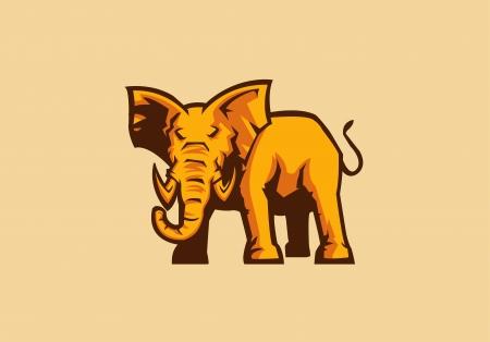 elephant sport mascot Illustration